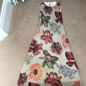 Tessuto Floral Sleeveless Dress, size medium.